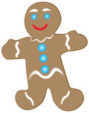 Smiling gingerbread cookie Stock Photography