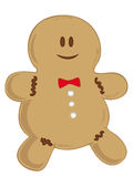 Smiling Gingerbread man. Royalty Free Stock Image