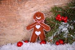 Smiling gingerbread man Stock Image