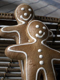Smiling gingerbread men Royalty Free Stock Photography