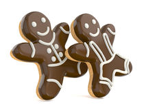 Smiling gingerbread men. Stock Photo