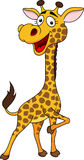 Smiling giraffe cartoon Royalty Free Stock Photo