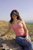 Smiling girl. Portrait attractive Armenian girl. Outdoor stock image