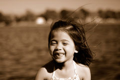 Smiling girl 2. A shot of an asian girl palying at the park Stock Photo