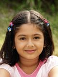 Smiling girl. An outdoor portrait of a young, smiling girl Royalty Free Stock Photo