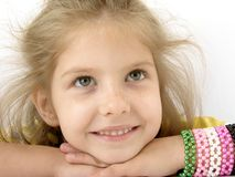 Smiling girl Stock Images