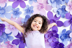 Emotion of beautyful child Stock Images