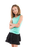 Smiling girl with arms crossed Royalty Free Stock Photos