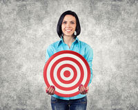 Girl with a target Royalty Free Stock Photography