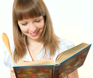 Smiling girl with book Royalty Free Stock Image