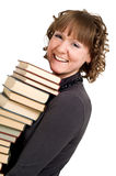 Smiling girl with books Royalty Free Stock Images