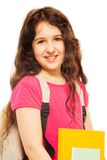 Smiling girl with books Stock Photo