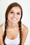 Smiling girl with braids Royalty Free Stock Images
