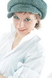 Smiling girl in cap Stock Photos