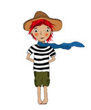 Smiling girl character Royalty Free Stock Photo