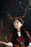 Smiling girl in the christmas Royalty Free Stock Photography
