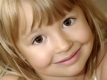 Smiling girl close-up Royalty Free Stock Photos