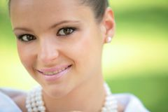 Smiling girl, close-up Royalty Free Stock Images