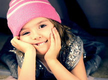 Smiling girl closeup. Royalty Free Stock Photo