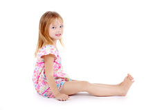 Smiling girl dressed in sundress Royalty Free Stock Photos