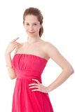 Smiling girl in elegant summer dress Stock Image