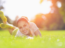 Free Smiling Girl Enjoying Spring Stock Photography - 29262622