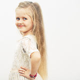 Smiling girl fashion portrait. Stock Images