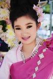 Smiling girl on Flower Festival Stock Photos