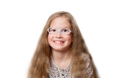 Smiling girl with glasses Royalty Free Stock Images