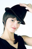 Smiling girl with hat. Stock Photos