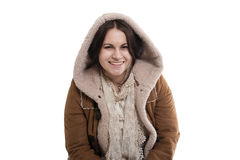 Smiling girl in a hood Royalty Free Stock Photography