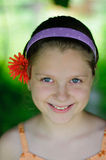 Smiling girl. An image of Sweet little girl outdoors royalty free stock photos