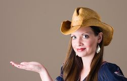 Smiling Girl In Western Outfit Royalty Free Stock Images