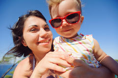 Smiling Girl and Mother Royalty Free Stock Photo