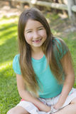 Smiling Girl with No Front Teeth Stock Images