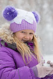 Smiling girl outdoors Stock Image
