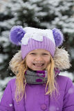 Smiling girl outdoors Stock Images