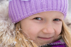 Smiling girl outdoors Royalty Free Stock Photography