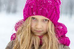 Smiling girl outdoors Royalty Free Stock Image