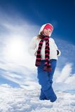 Smiling girl outside in winter Stock Photos