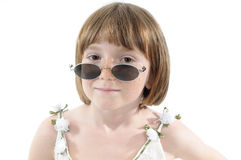 Smiling girl posing with accessory Stock Photo