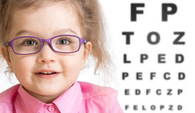 Free Smiling Girl Putting On Glasses With Blurry Eye Royalty Free Stock Images - 63717629