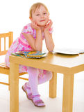 Smiling girl reading the book Royalty Free Stock Photography