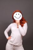 Smiling girl with red hair Royalty Free Stock Photo
