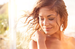 Smiling Girl In Relax Stock Photography