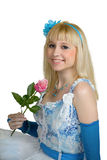 Smiling girl with a rose Stock Photography