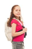 Smiling girl with rucksack Royalty Free Stock Image