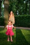 Smiling girl run Royalty Free Stock Image