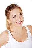 Smiling girl`s upclose. Stock Photography