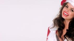 Smiling Girl in Santa Claus Costume Royalty Free Stock Photos